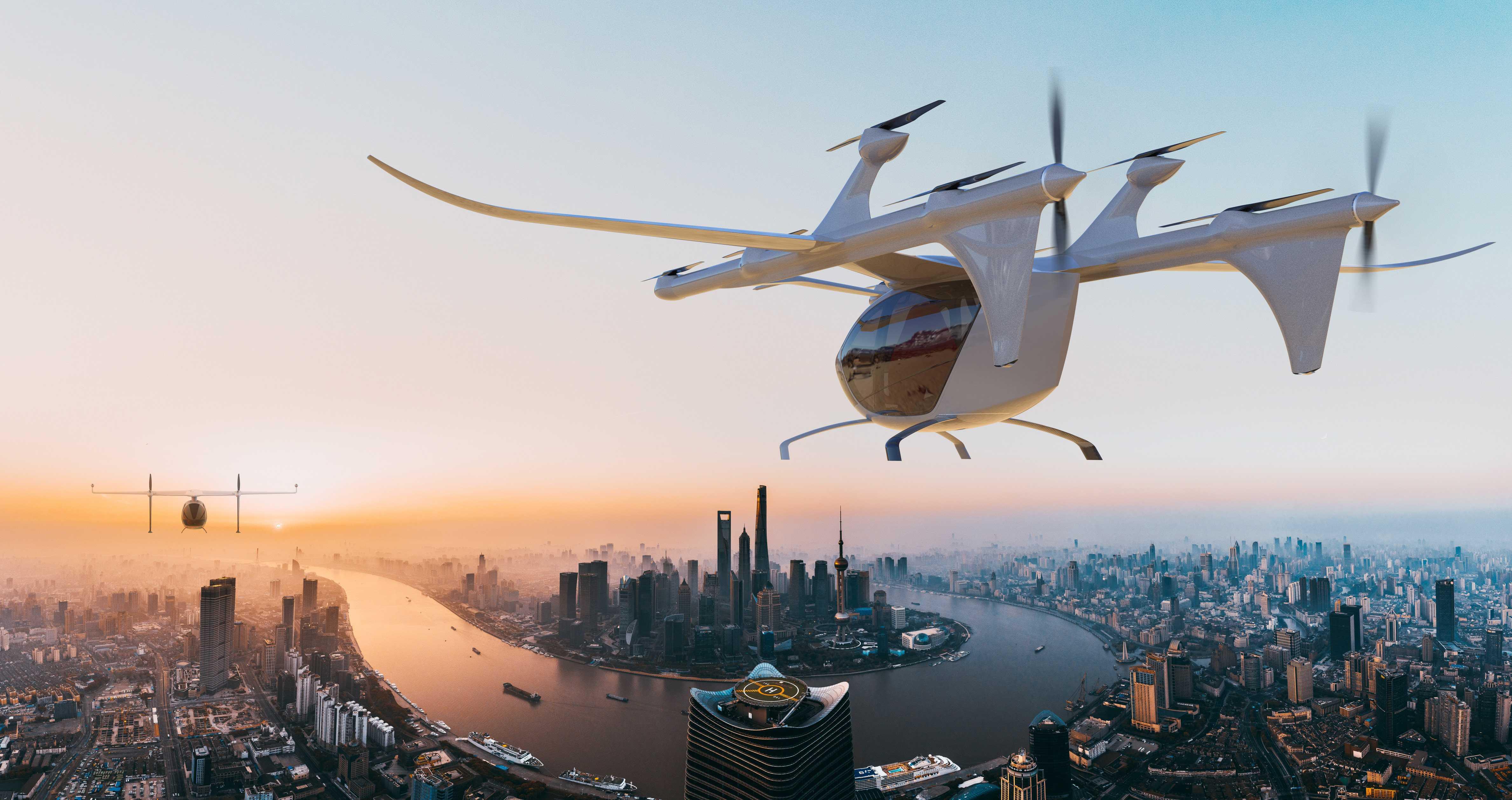 Китайцы представили прототип аэротакси V1500M с большой дальностью полета